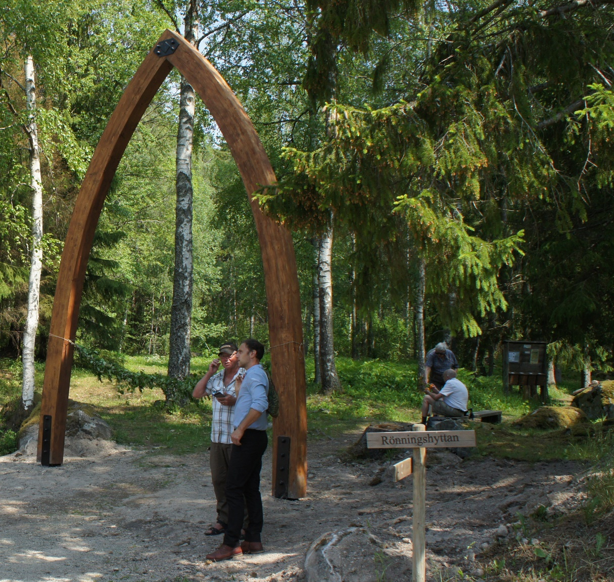 Porten till Fasaskogen.